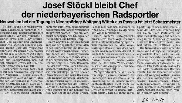 Quelle: Landshuter Zeitung 01.04.2014