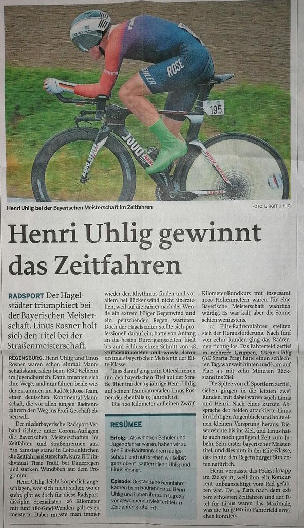 Quelle: Mittelbayerische Zeitung 21.10.2020 (?)