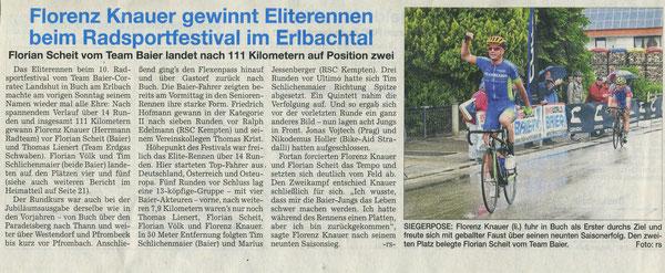 Quelle: Landshuter Zeitung 21.06.2016 - Sportteil