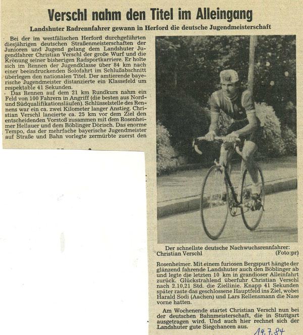 Quelle: Landshuter Zeitung 14.07.1984