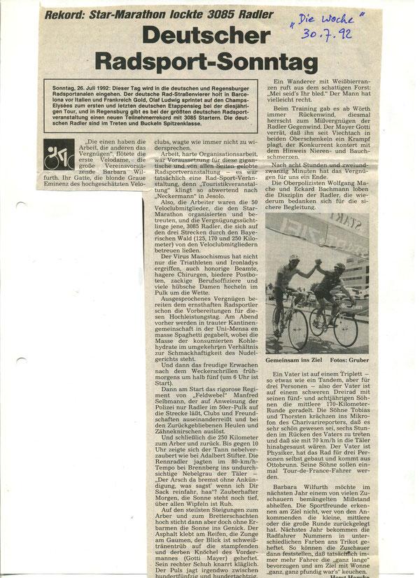 Quelle: Die Woche  30.07.1992 - Verfasser: Horst Hanske