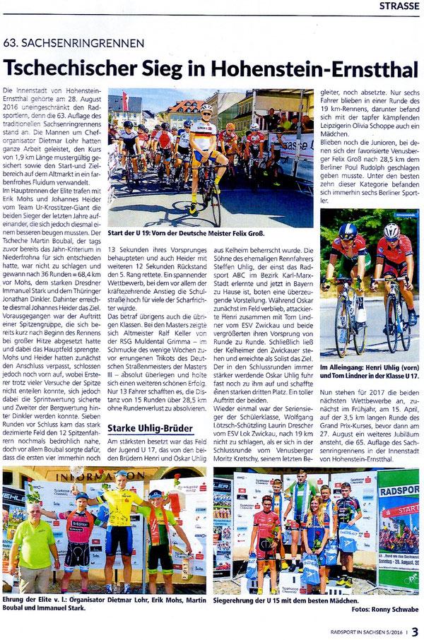 Quelle: Sächsische Radsportzeitung Nr. 5/2016