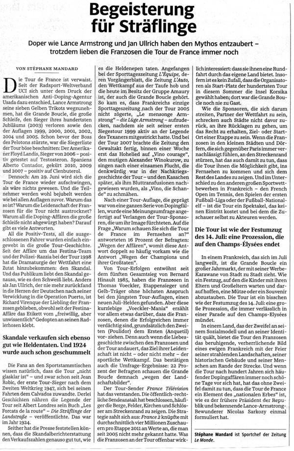 Quelle: Süddeutsche Zeitung vom 22.Januar 2013