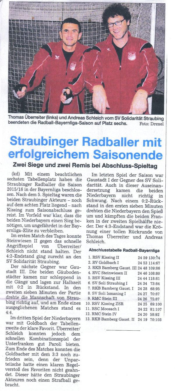 Quelle: Straubinger Tagblatt 04.05.2016