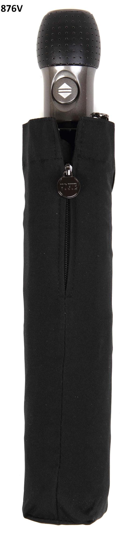 876V Opvouwbare golf paraplu zwart , diameter open van 120 cm. Lengte gesloten 35cm