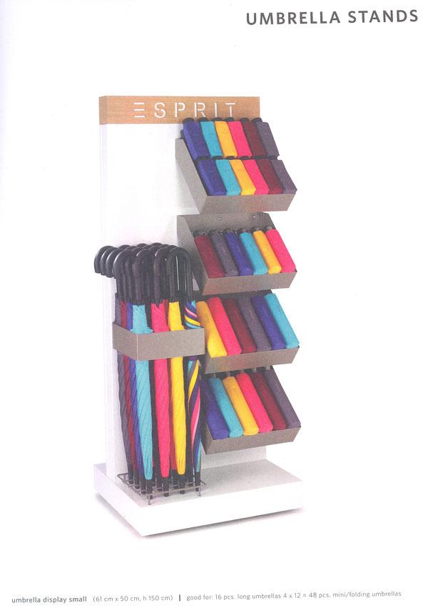 Stander voor paraplu's Esprit een zijde voor 16 lange paraplu's en 48 mini