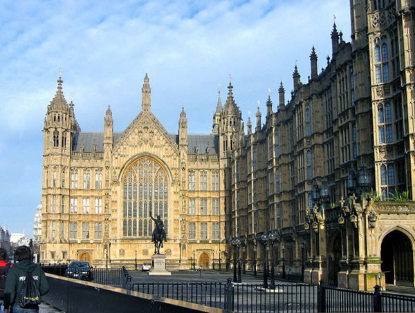処刑の地、House of Parliament 国会議事堂横の「Old Palace Yard」。