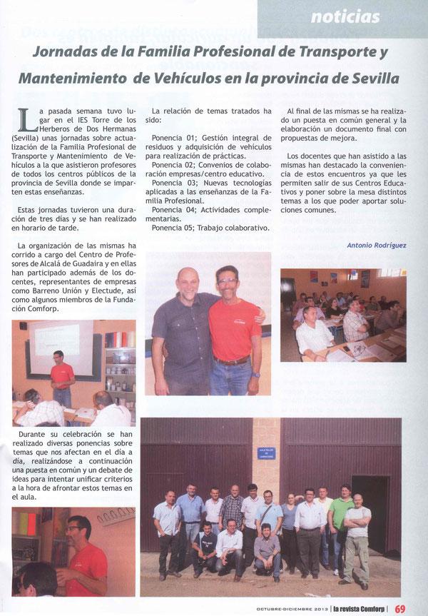 Jornadas Automoción en el IES Torre de los Herberos de Dos Hermanas (Sevilla) 2013