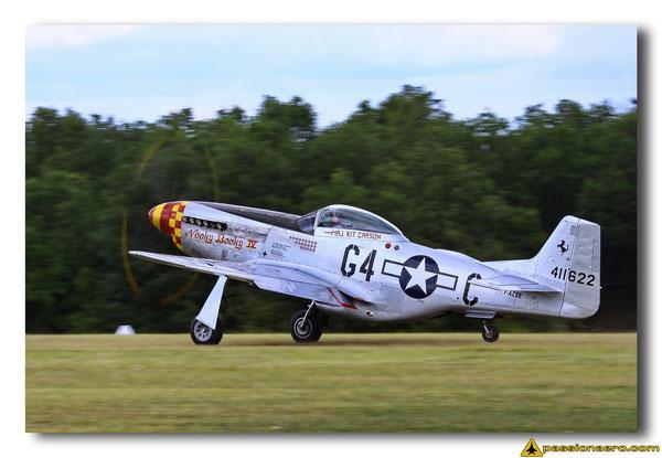 Décollage du P-51