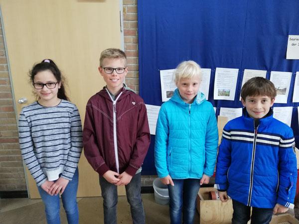 Die vier schnellsten Läufer der ASS: Donita, Sören, Ida und Lennart
