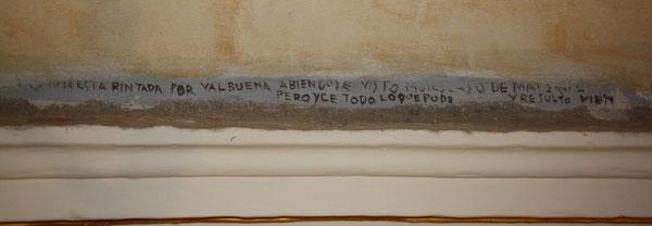 Inscripción de Ignacio Valbuena.