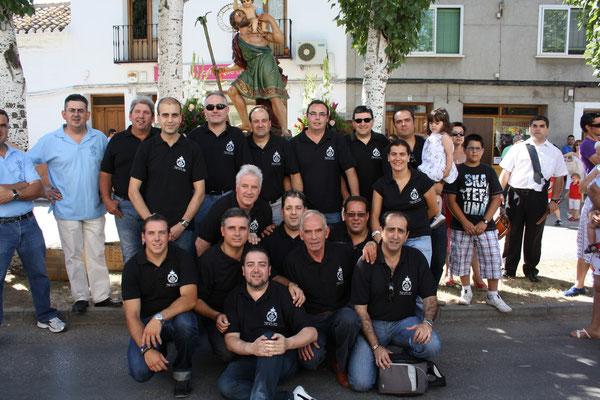 Fotografía final de todos los que participamos en la procesión.