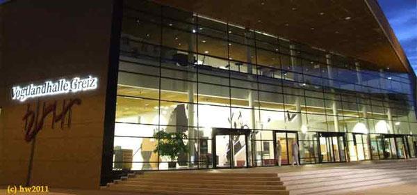 Führung durch die Vogtlandhalle Greiz Stadtführung Nachtwächterrundgang Neustadtführung Gründerzeitführung Reiseleiter Preis Information Tourist greiz. de