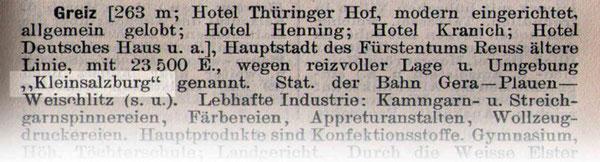 Tourismuswerbung aus dem Jahre 1911