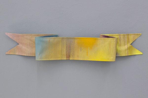 "Matthias Moravek, ""Ohne Titel"", Öl, Leinwand, Metall, 90 x 20 x 12 cm, 2018"