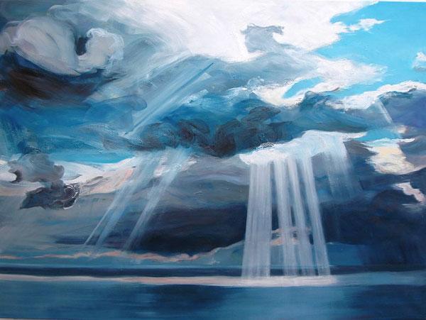 Alke Brinkmann, Himmel III, 200cm x 260cm, Öl auf Leinwand 2013