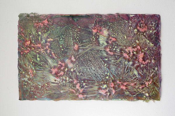 Enrico-Niemann, Myceli III, 2020, Mischtechnik auf Papier, 37 x 60 cm