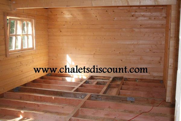Maison bois massif montage