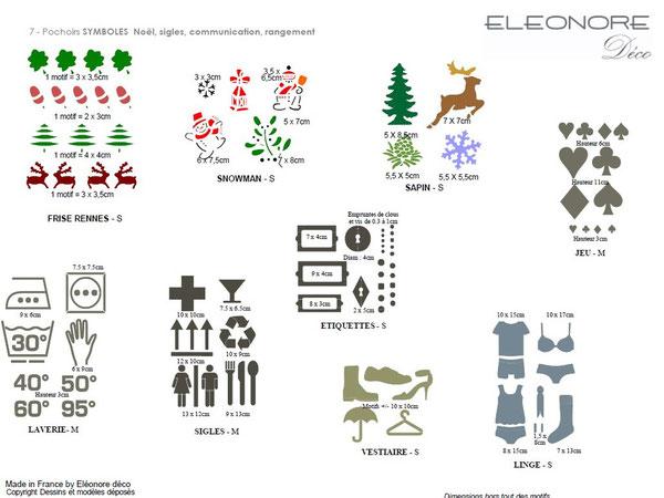 Les pochoirs symboles