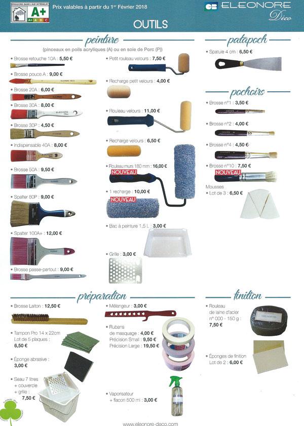 Tarifs 2014 des outils Eléonore Déco