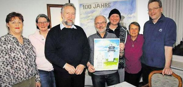 v.l.n.r.: Iris Alten, Stefanie Dreßelhaus-Sack, Walter Zielke, Hans-Jürgen Umland, Marco Altenhoff, Renate Ruge, Christian Sack (C) Thomas Sassen - NEZ