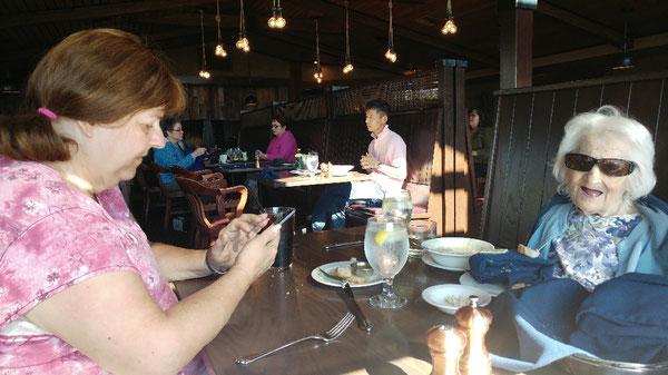Mom and Mari 2017 Oregon beach restaurant
