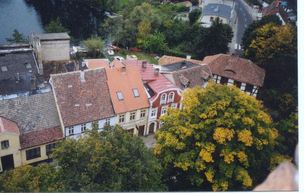 Łagów, Sicht aus dem Schloßturm. Widok z wieży zamku
