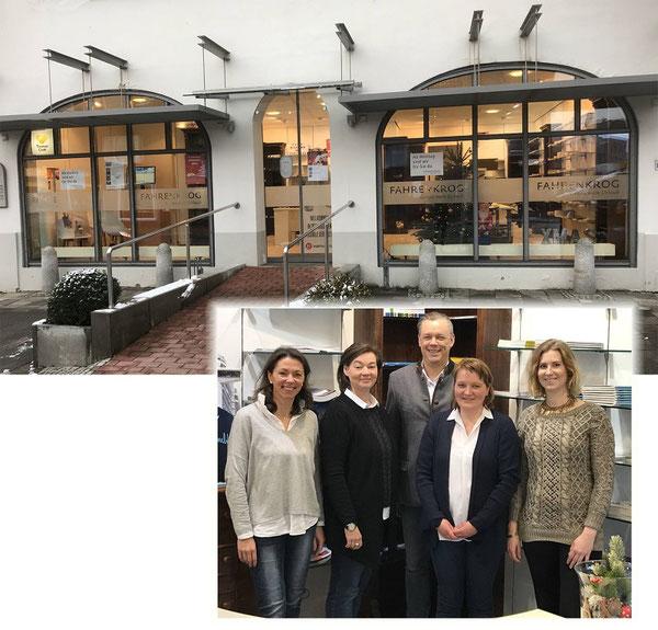 Team Kronshagen v.l.: Azubi Maike Jensen, Dorit Edler, Philipp Fahrenkrog, Sibylle Kannengiesser, Christiane Mathea