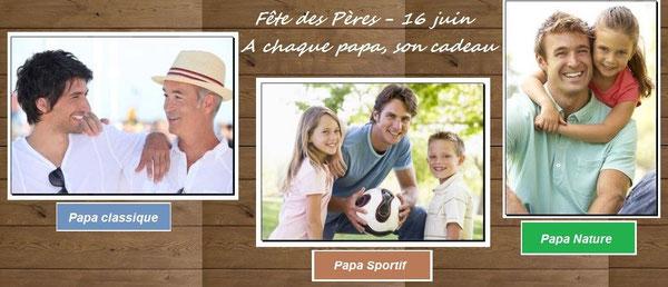 A chaque papa, son cadeau, classique, sportif, nature, Bijoux des Lys