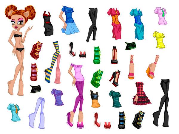 Бумажная кукла Хоулин Вульф с одеждой