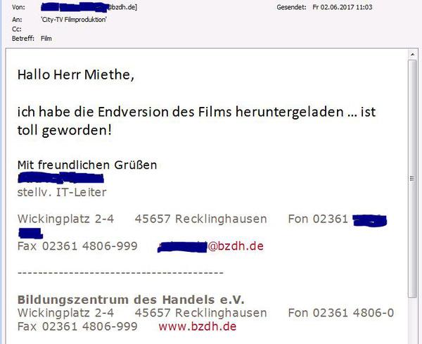 Gerd Miethe City-TV Marl Filmproduktion Bildungszentrum des Handels