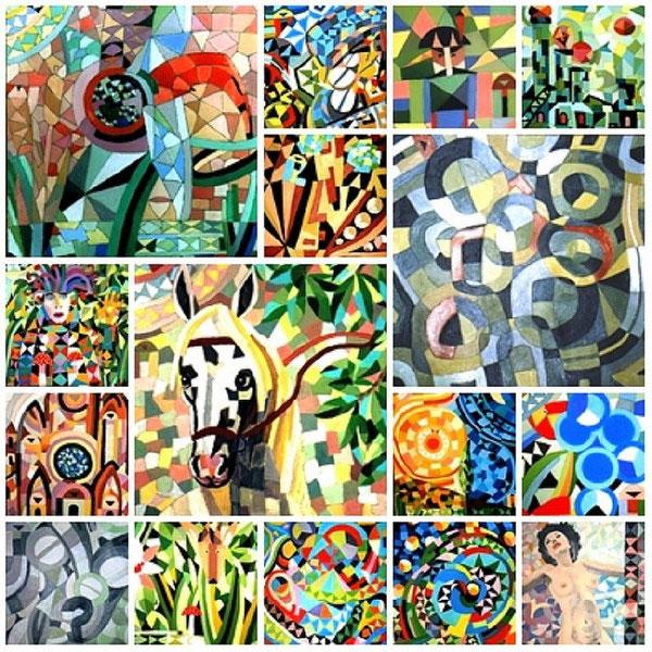 Periodo pittorico anni 90 genere mosaico fantasy