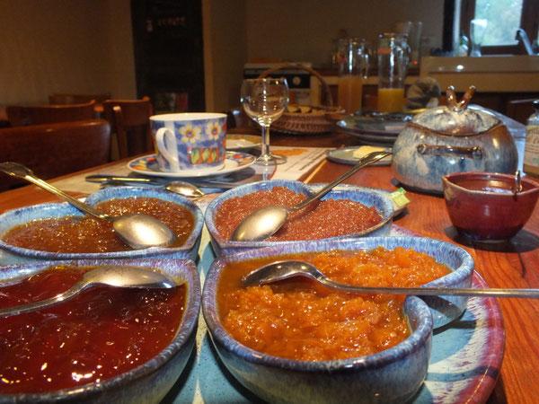 Les excellents petits déjeuners bio et divins du Domaine de La Loge