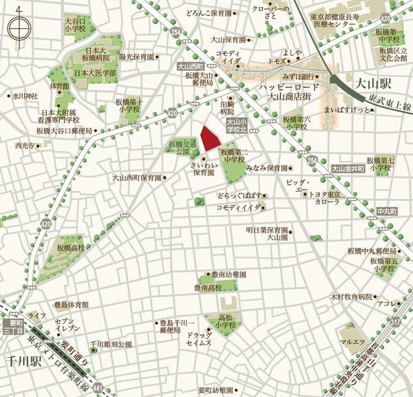 大山駅,周辺マップ