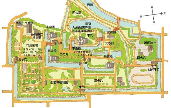弘前公園園内図