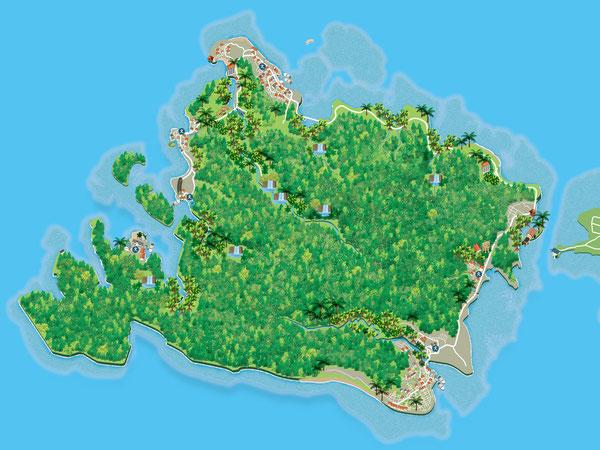 西表島イラストマップ