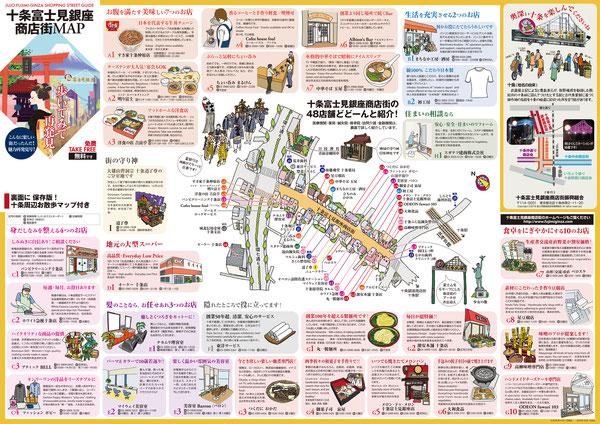 十条 富士見銀座 商店街マップ