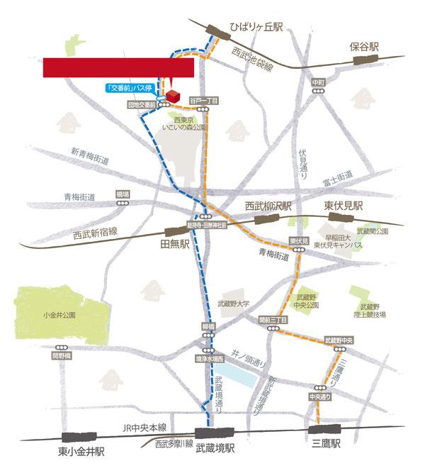 武蔵境地図,三鷹地図,東小金井地図