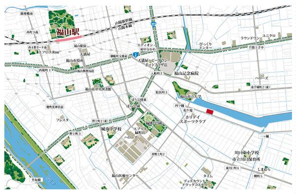 福山駅,周辺地図