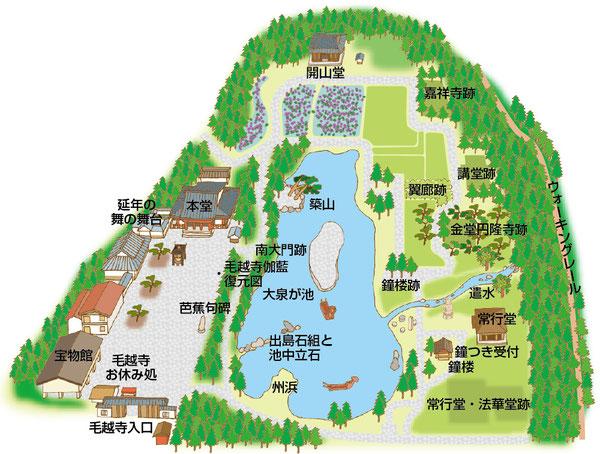 毛越寺イラストマップ