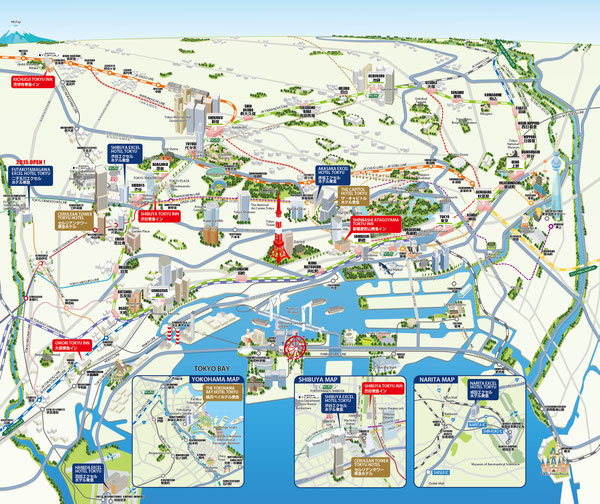 東京横浜マップ