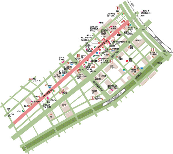 イゼザキモール地図