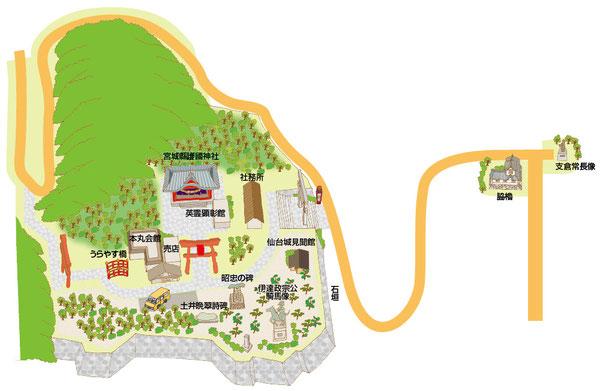 仙台城マップ