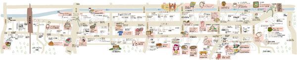 元町商店街 マップ地図