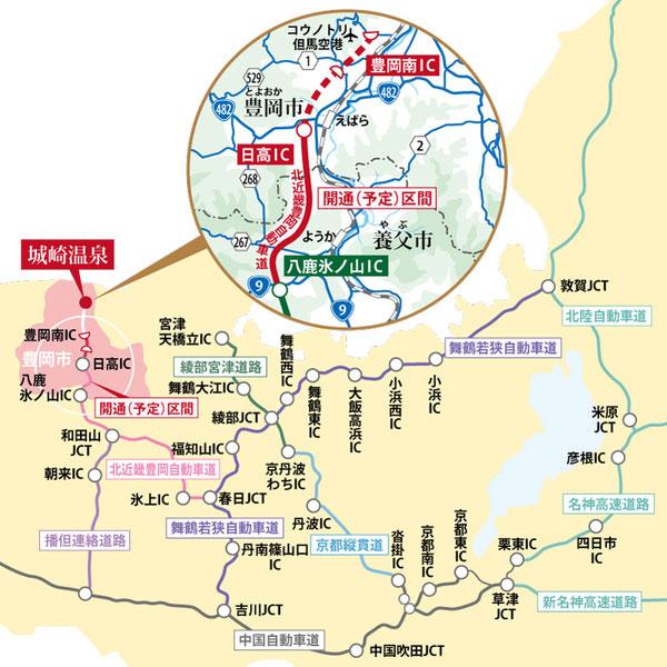 豊岡道路マップ