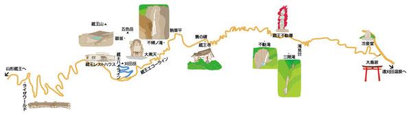 エコーライン道路マップ
