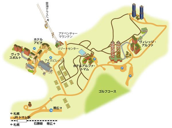 トマムイラストマップ