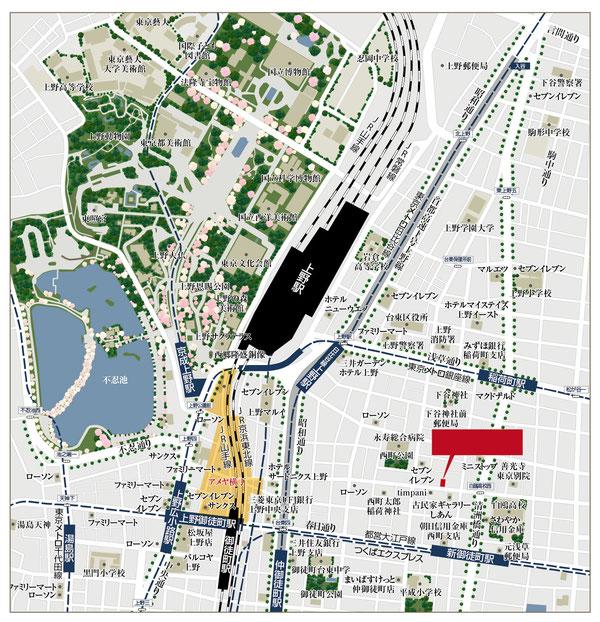上野マップ,上野地図