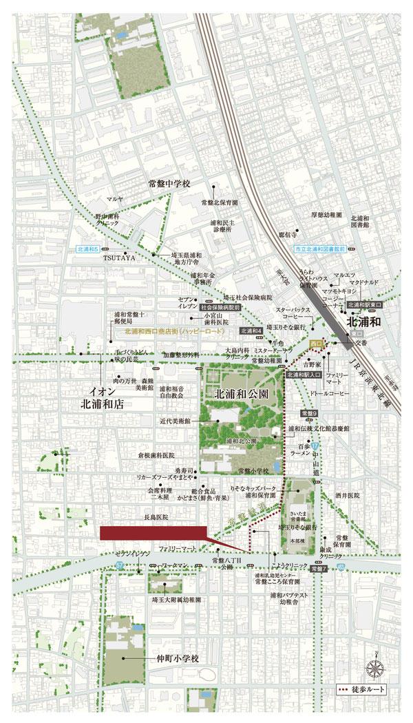 北浦和地図
