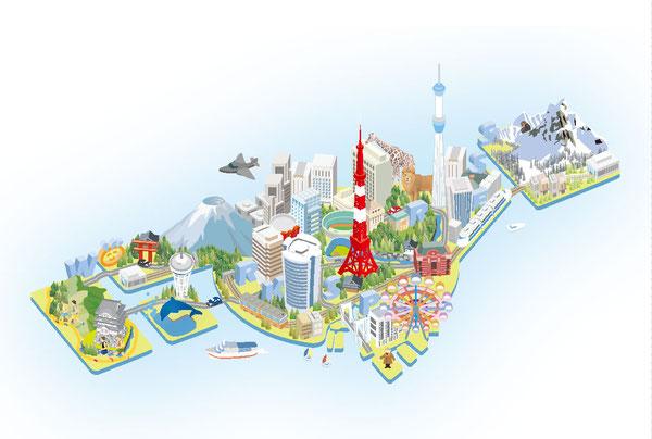 日本地図イラストマップ